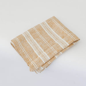MULTISTRIPE European Linen Kitchen Towel 45x65 Gold