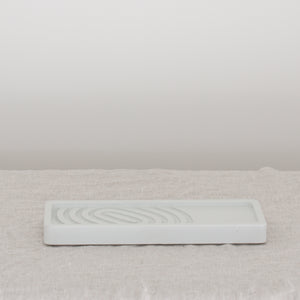 Concrete Soap Tray - Almost White