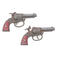 1937 Stevens Hero Cast Iron Cap Guns Set