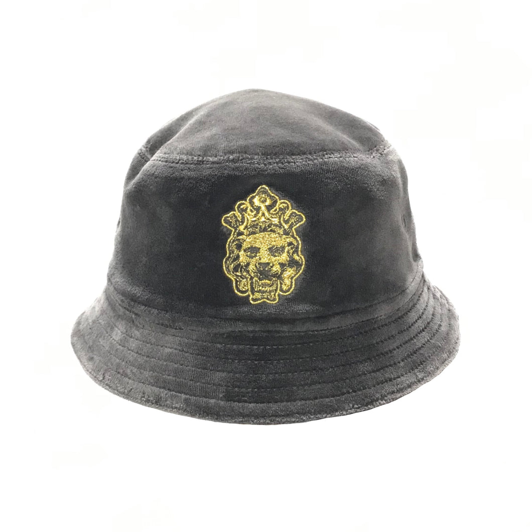 Lion Velour Bucket Hat