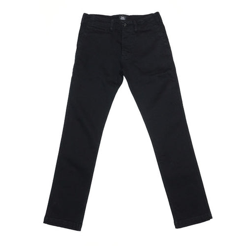 Black Stretch Denim Chino Pant