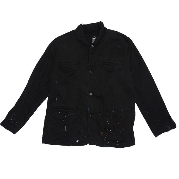 Paint Splatter Twill Blazer