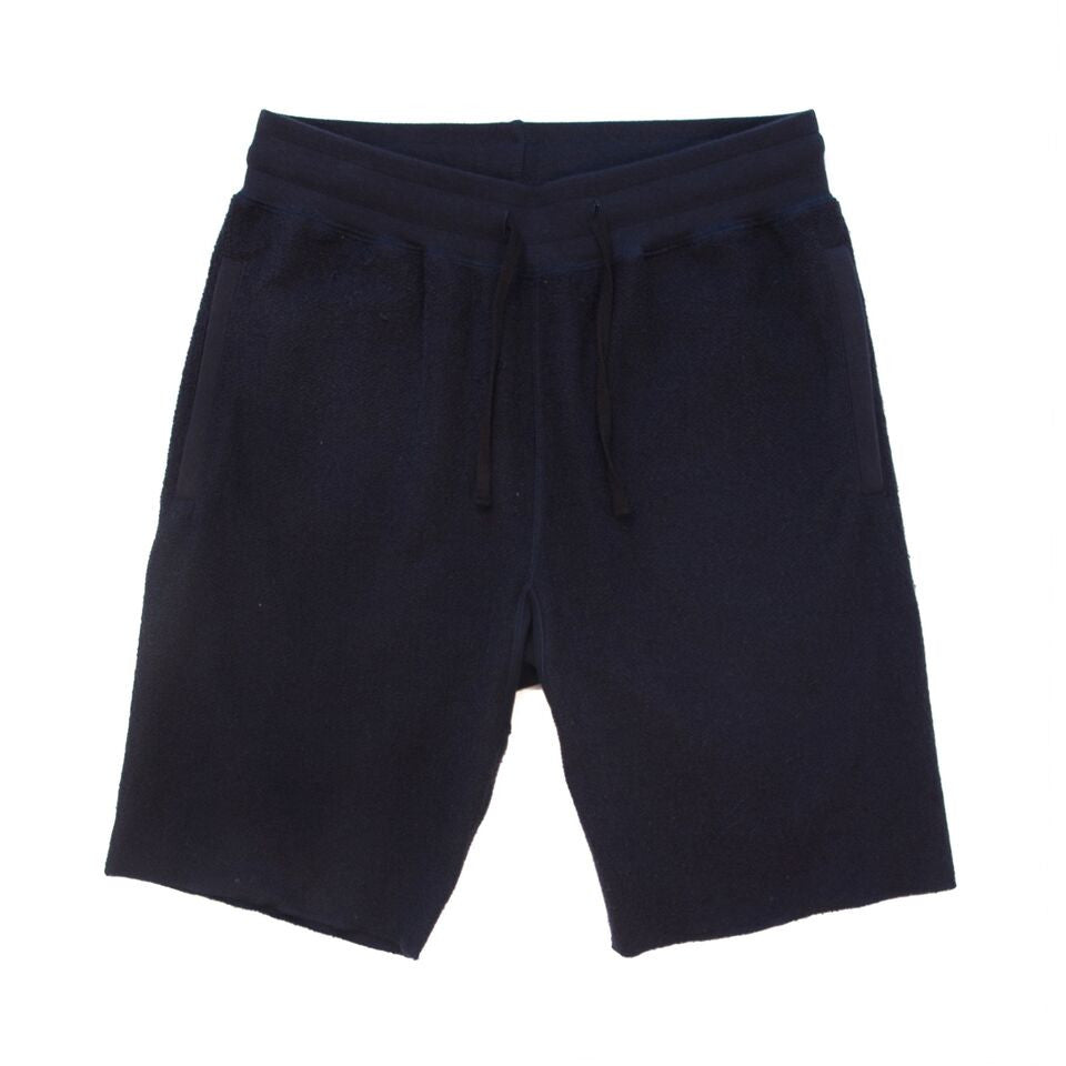 Navy Inside Out Fleece Shorts
