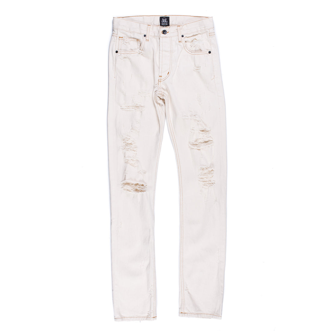 Natural Distressed Denim