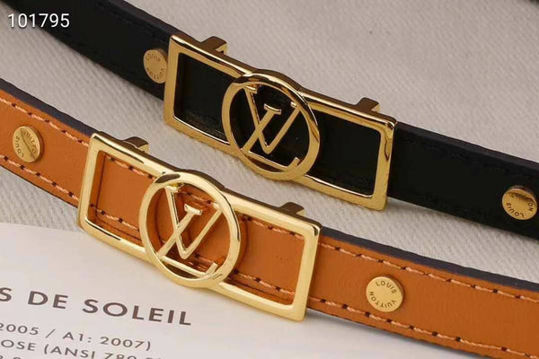 Louis Vuitton Leather Bracelet Tan or Black