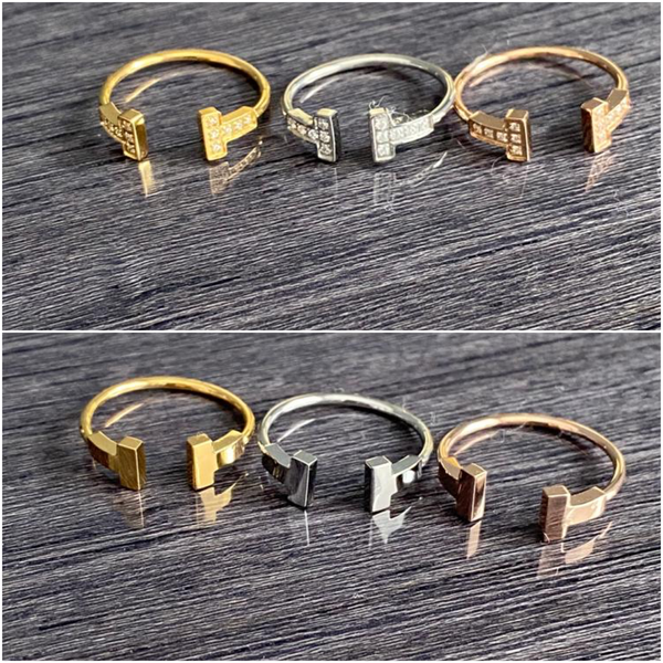 Tiffany T Rings - Plain or Stoned