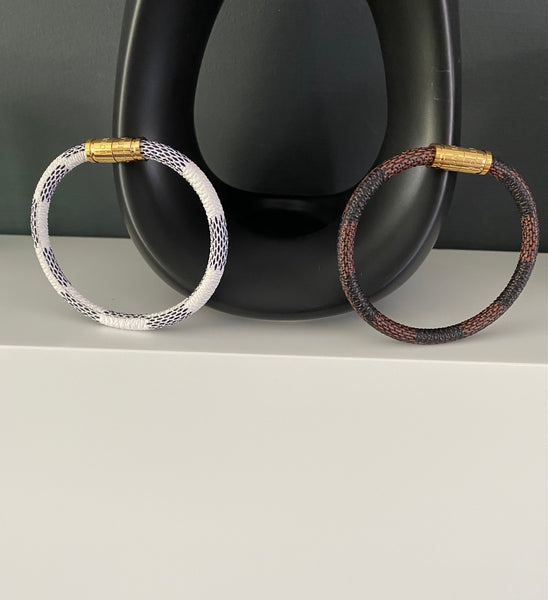 Louis Vuitton Keep It Bracelet - Damier Canvas - Brown or White One size