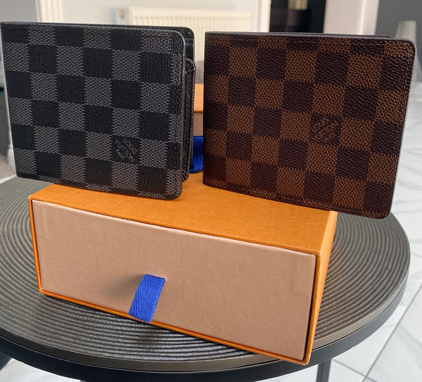 Louis Vuitton Mens Wallet - Graphite or Brown - Designer Inspired