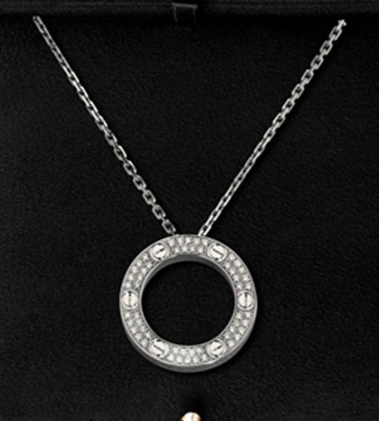 Cartier Love Necklace with Zirconia Crystals - Matches the Crystal Love Bracelet
