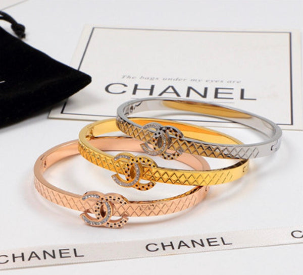 Chanel Bracelet with diamante inlaid letters - 4 shades