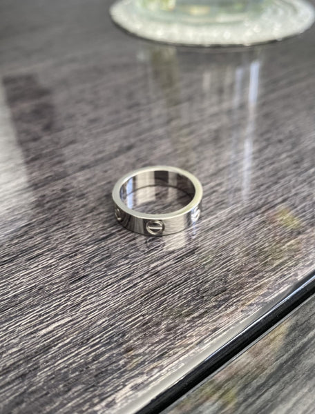 Cartier Love Ring - Plain or Stoned - Titanium with 18ct Plating Non Tarnish