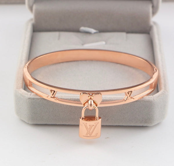 Louis Vuitton Lockit Bracelet - 18k Titanium Plated