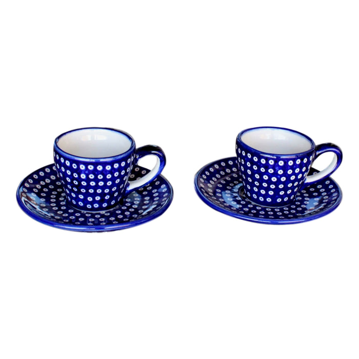 Dotty for Dots Navy - Espresso Cup - Set of 2 - Pas-Par-Tou