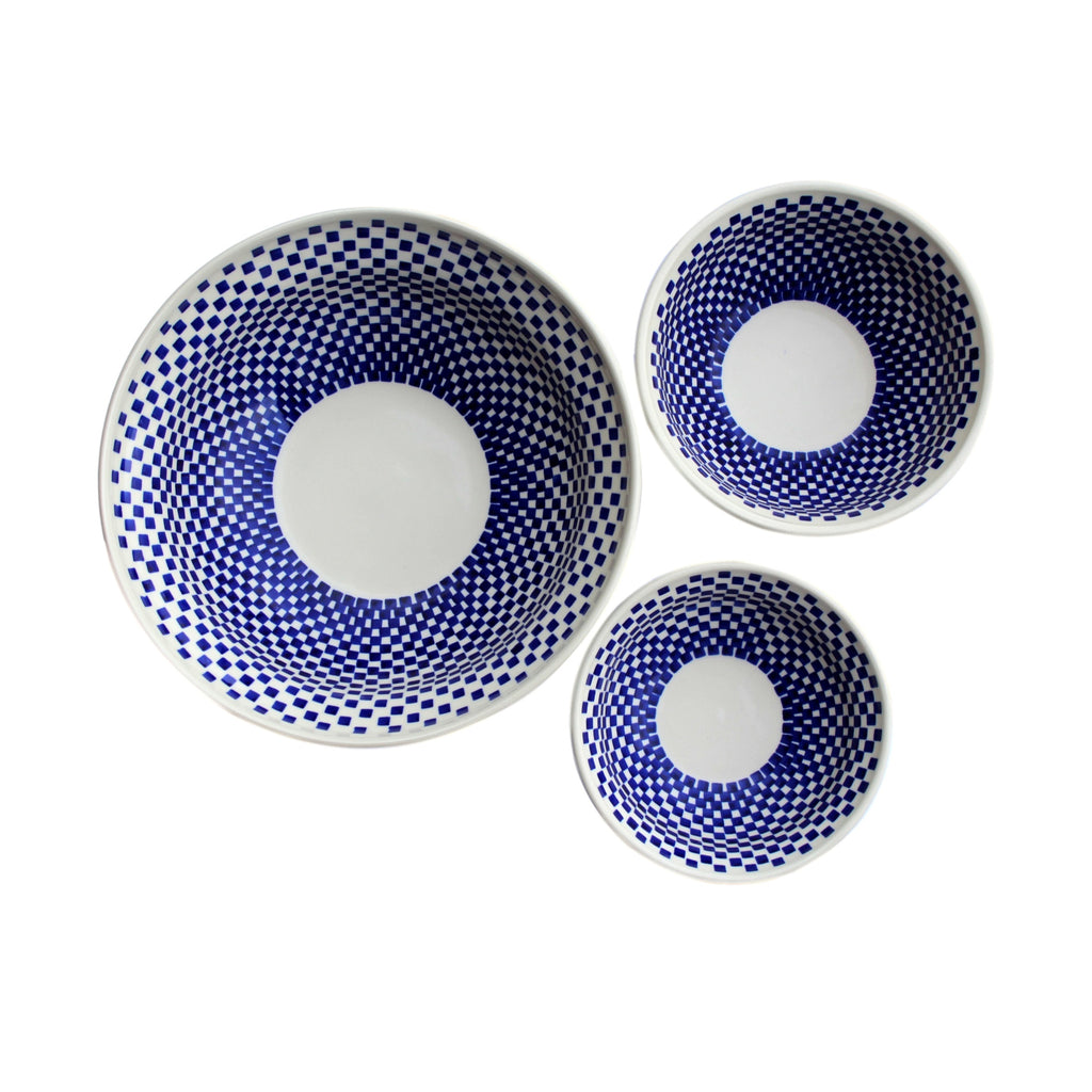 Checkerboard - Salad Bowl  Polish Ceramics - PasParTou