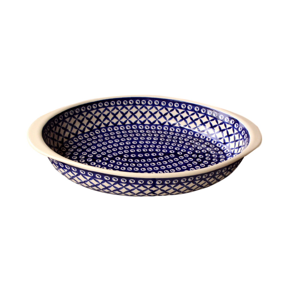 Lattice - Medium Oval Baker  Polish Ceramics - PasParTou