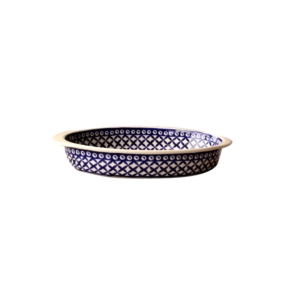 Lattice - Small Oval Baker  Polish Ceramics - PasParTou