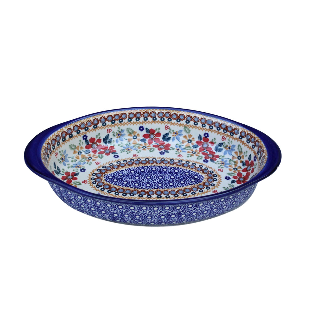 Harvest Floral 2 - Small Oval Baker - PasParTou