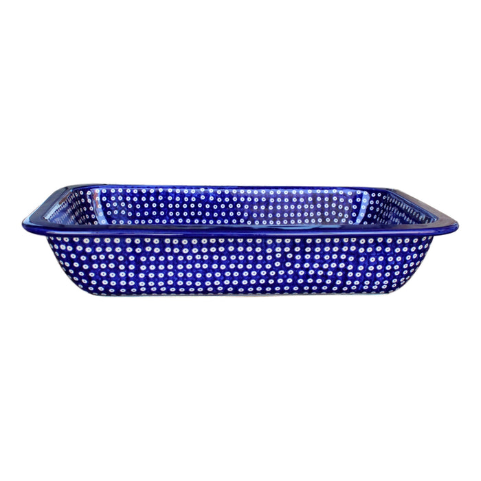 Dotty for Dots Navy - Rectangular Baker Large - Pas-Par-Tou