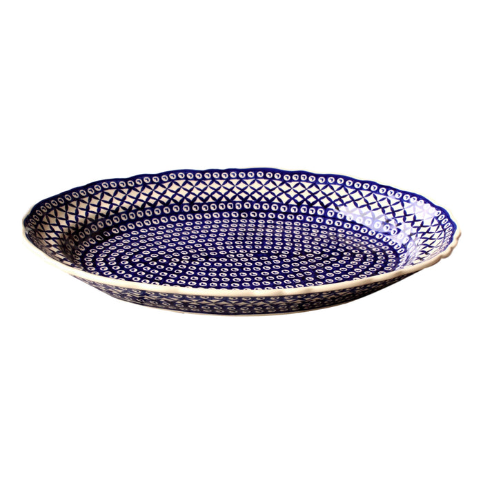 Lattice - Large Oval Serving Platter - PasParTou