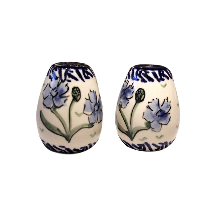 Blue Dahlia - Salt&Pepper Shakers - Egg Shape - Pas-Par-Tou
