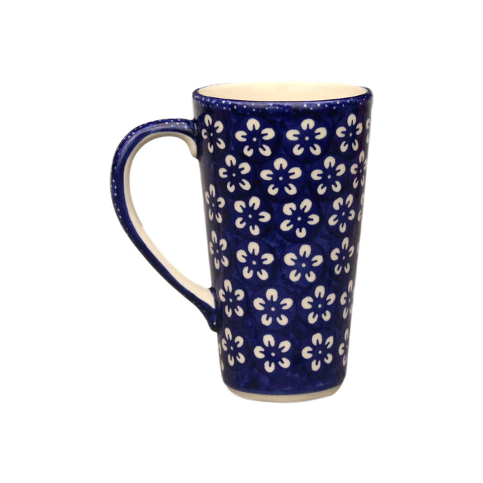 Blue Flowers - Tall Mug - Pas-Par-Tou
