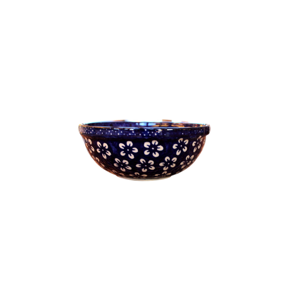 Blue Flowers - Dessert Bowl  Polish Ceramics - PasParTou