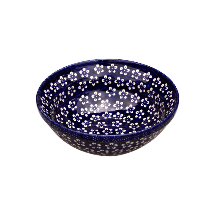 Blue Flowers - Medium Serving Bowl - Pas-Par-Tou