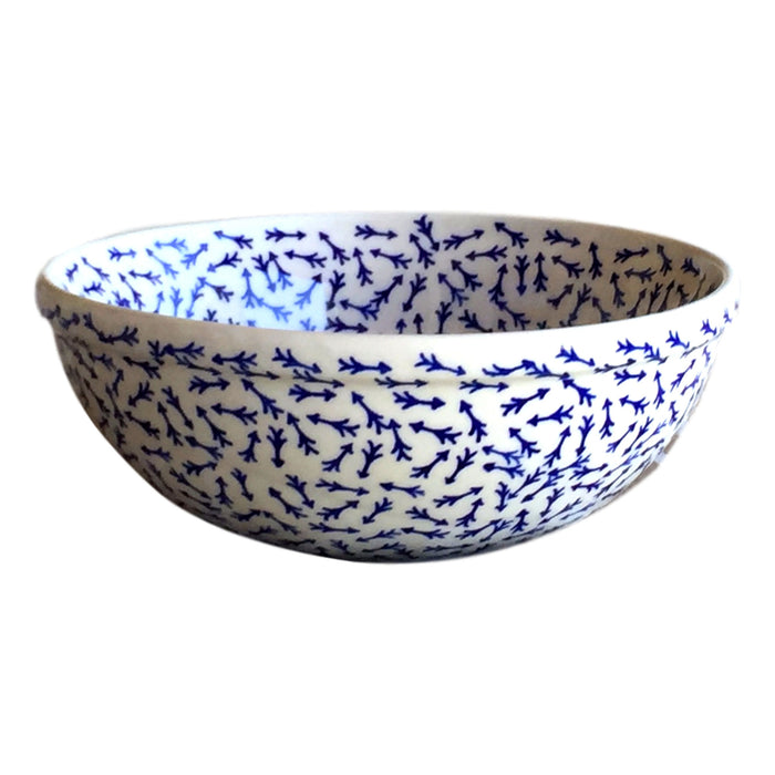 Blue Arrows - Small Serving Bowl  Polish Ceramics - PasParTou