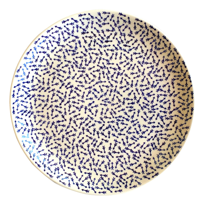 Blue Arrows - Large Serving Plate  Polish Ceramics - PasParTou