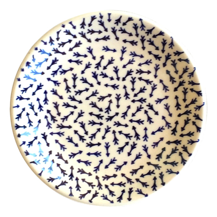 Blue Arrows - Dessert Plate  Polish Ceramics - PasParTou