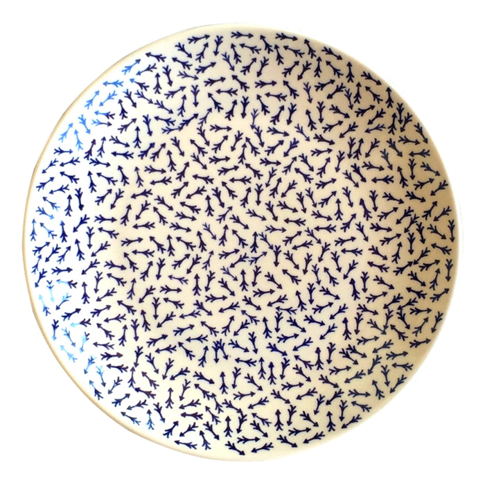 Blue Arrows - Dinner Plate. - Pas-Par-Tou
