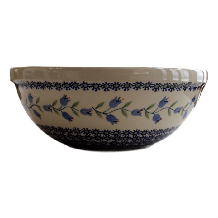 Bluebells - Medium Serving Bowl  Polish Ceramics - PasParTou
