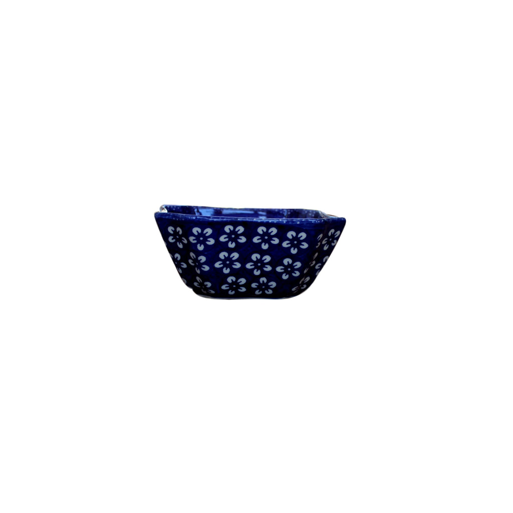 Blue Flowers - Bowl Magdalene S  Polish Ceramics - PasParTou