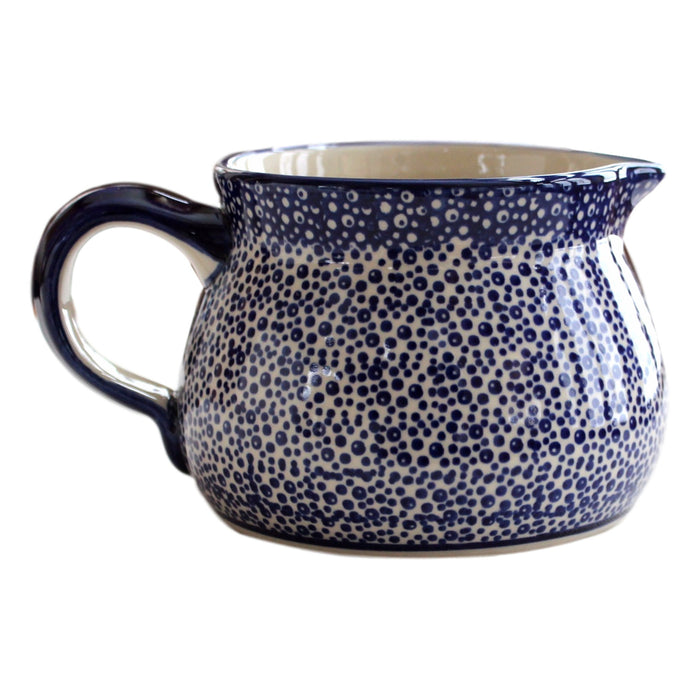 Blue Spatter - Medium Jug  Polish Ceramics - PasParTou