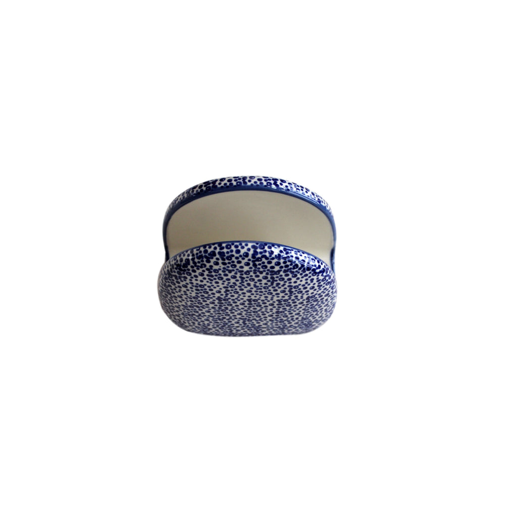 Blue Spatter - Napkin Holder  Polish Ceramics - PasParTou