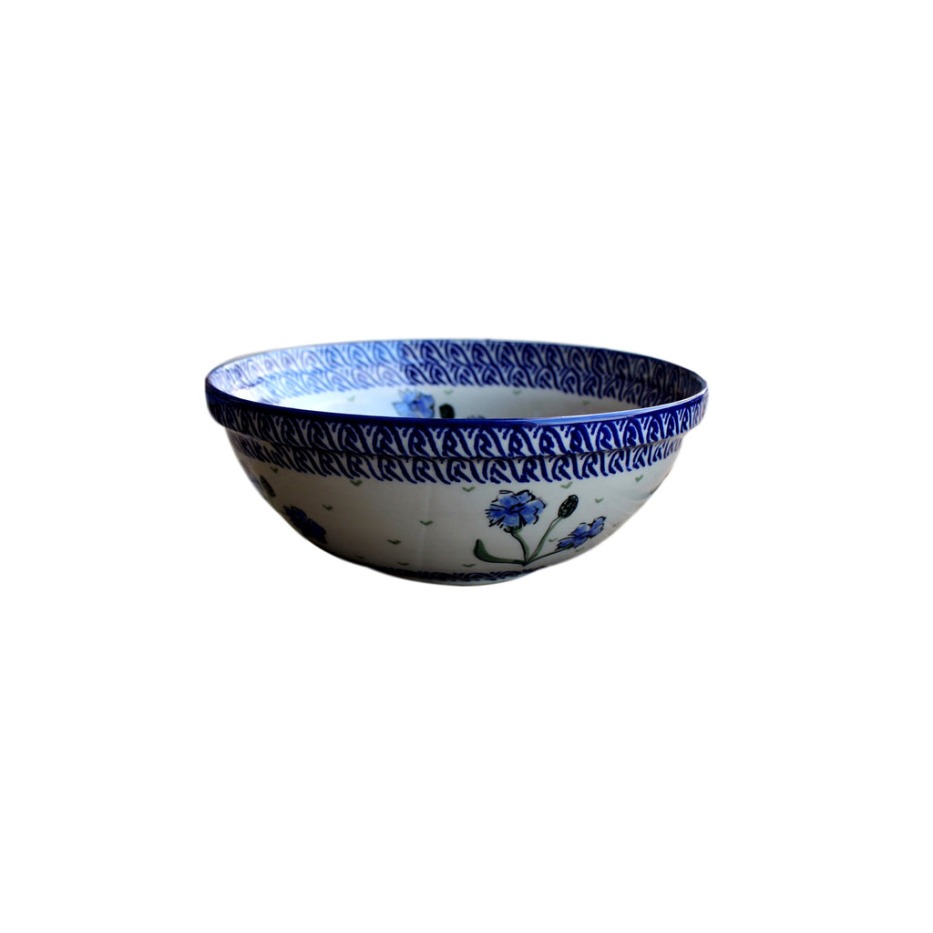 Blue Dahlia - Medium Serving Bowl  Polish Ceramics - PasParTou
