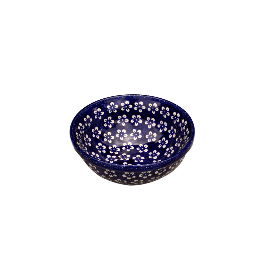 Blue Flowers - Salad Bowl  Polish Ceramics - PasParTou