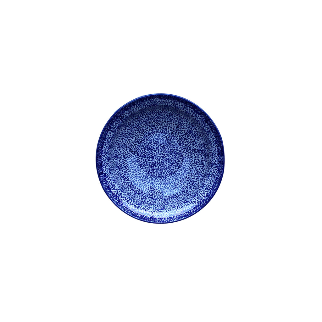 Blue Spatter - Salad Bowl  Polish Ceramics - PasParTou