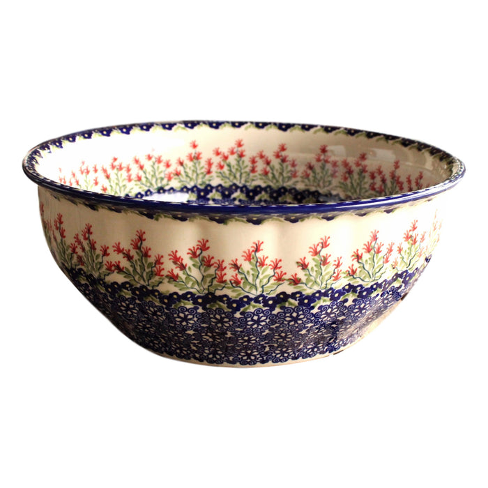 Garden - Large Fluted Serving Bowl  Polish Ceramics - PasParTou