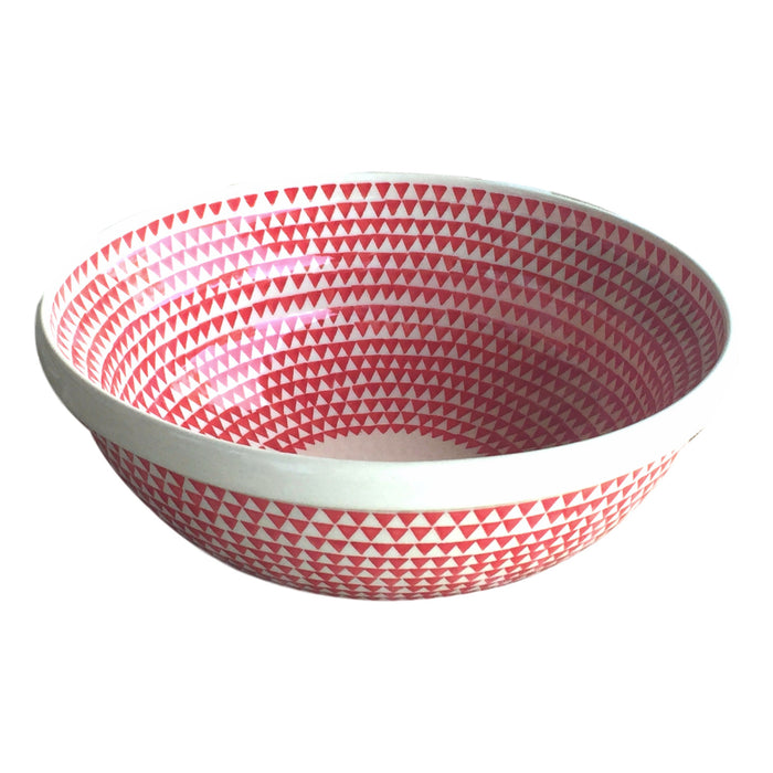 Triangles Red - Medium Serving Bowl - PasParTou