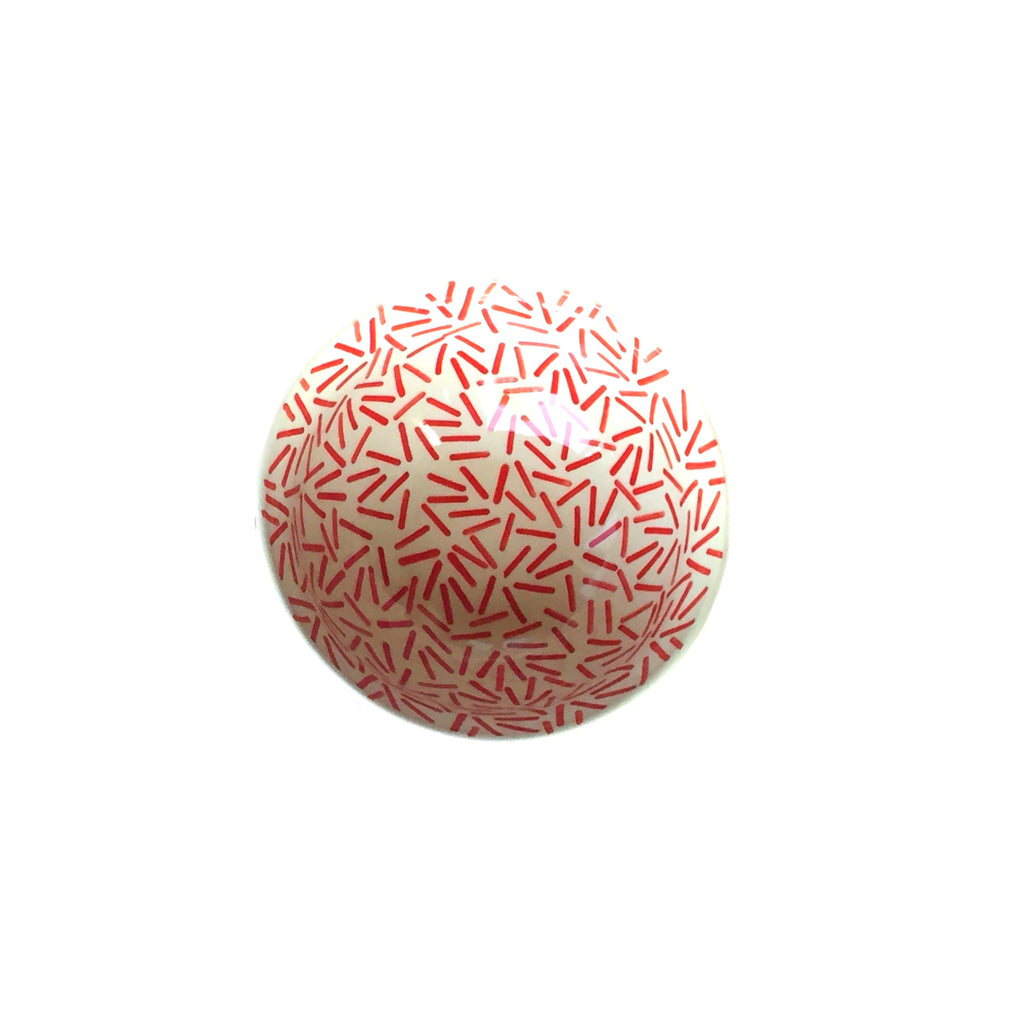 Op Art Red - Salad Bowl - PasParTou