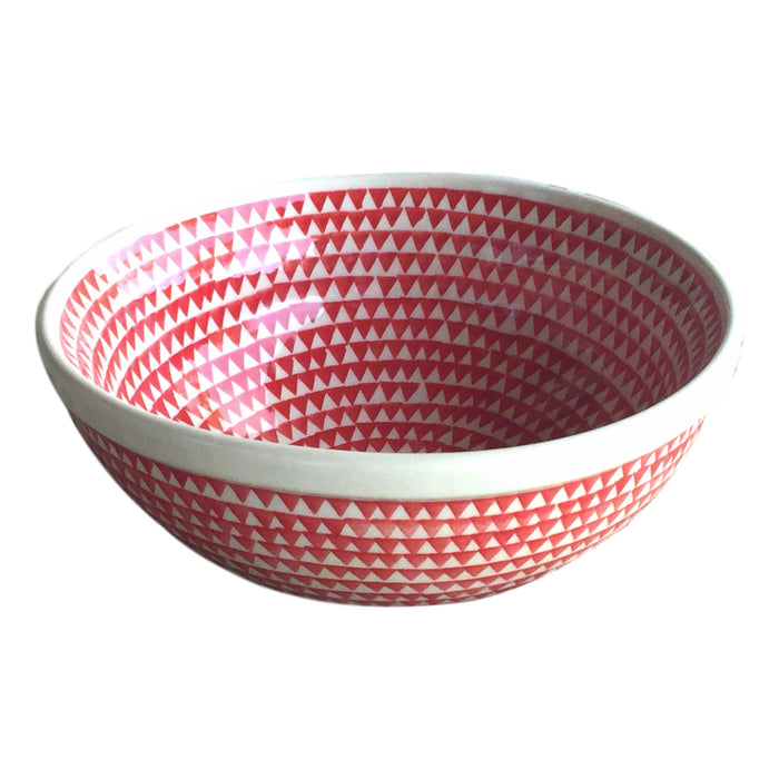 Triangles Red - Small Serving Bowl - PasParTou