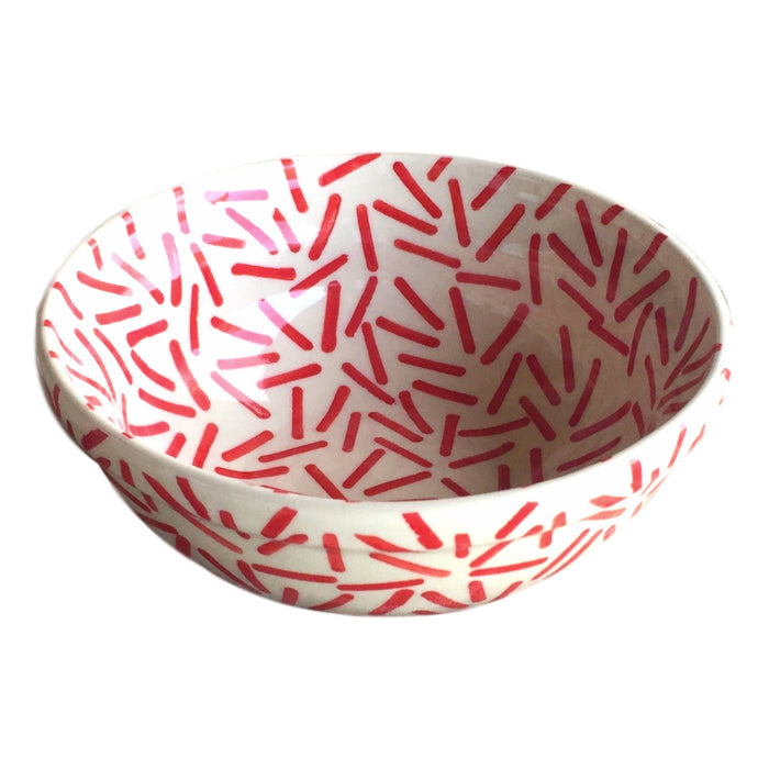 Op Art Red - Dessert Bowl - PasParTou