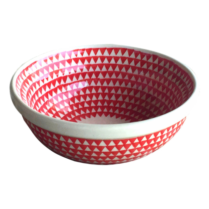 Triangles Red - Dessert Bowl - PasParTou