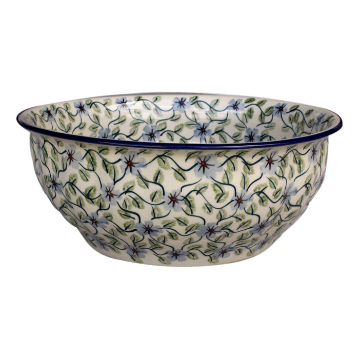 Spring Floral - Large Fluted Serving Bowl  Polish Ceramics - PasParTou