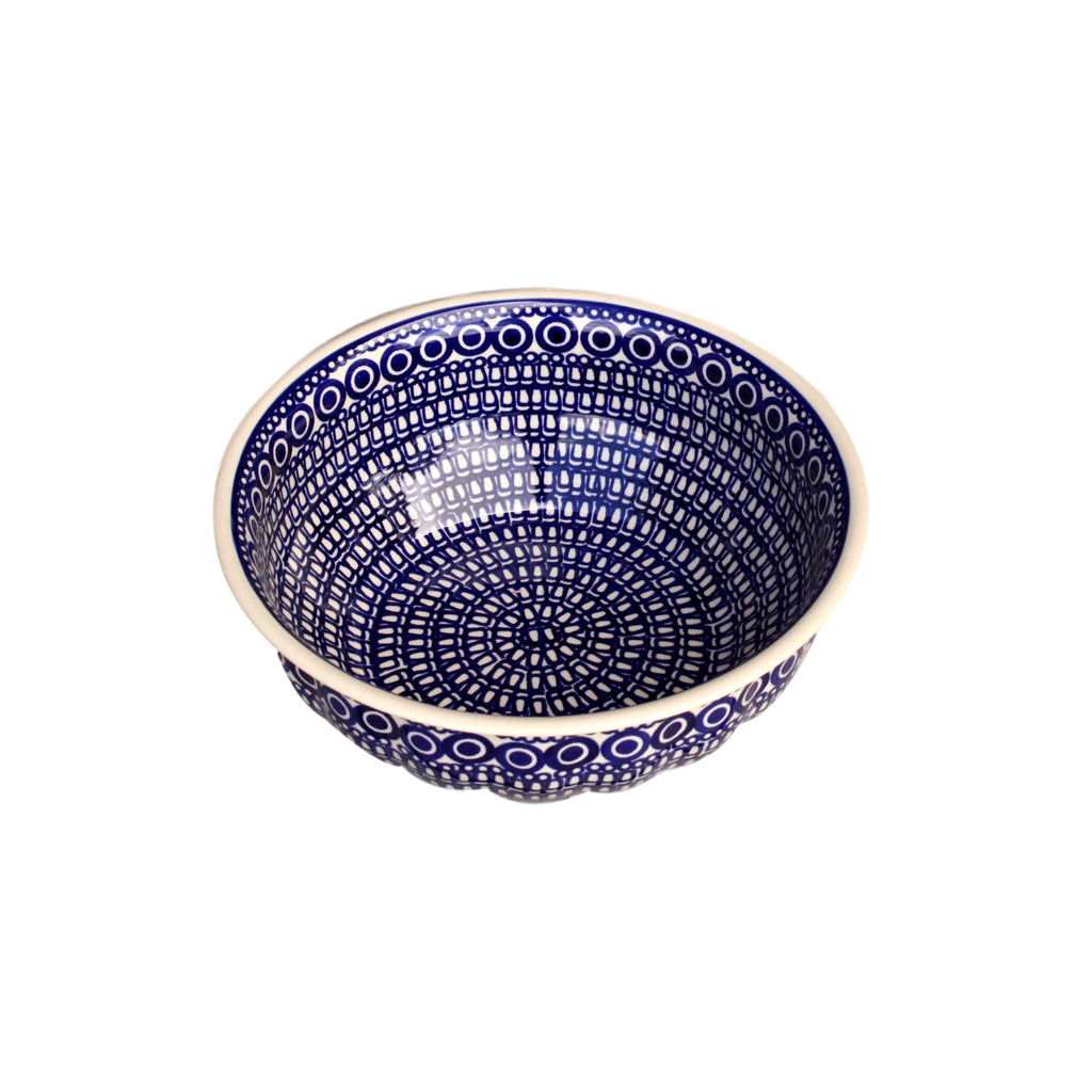Circles - Large Fluted Serving Bowl  Polish Ceramics - PasParTou