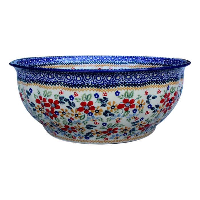 Harvest Floral - Large Fluted Bowl  Polish Ceramics - PasParTou