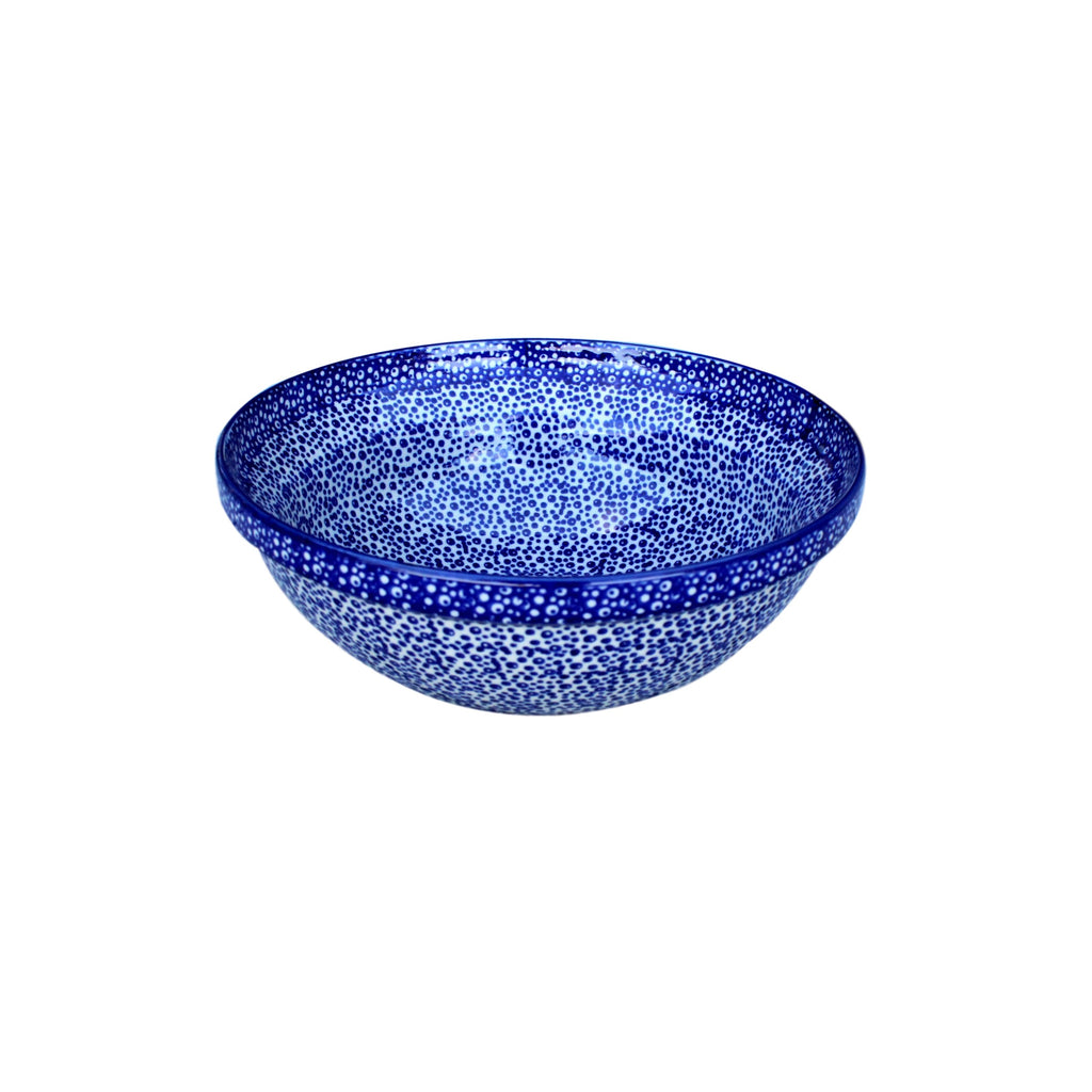 Blue Spatter - Medium Serving Bowl  Polish Ceramics - PasParTou