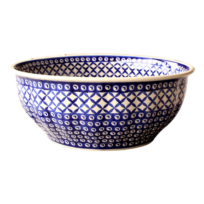 Lattice - Large Fluted Bowl  Polish Ceramics - PasParTou