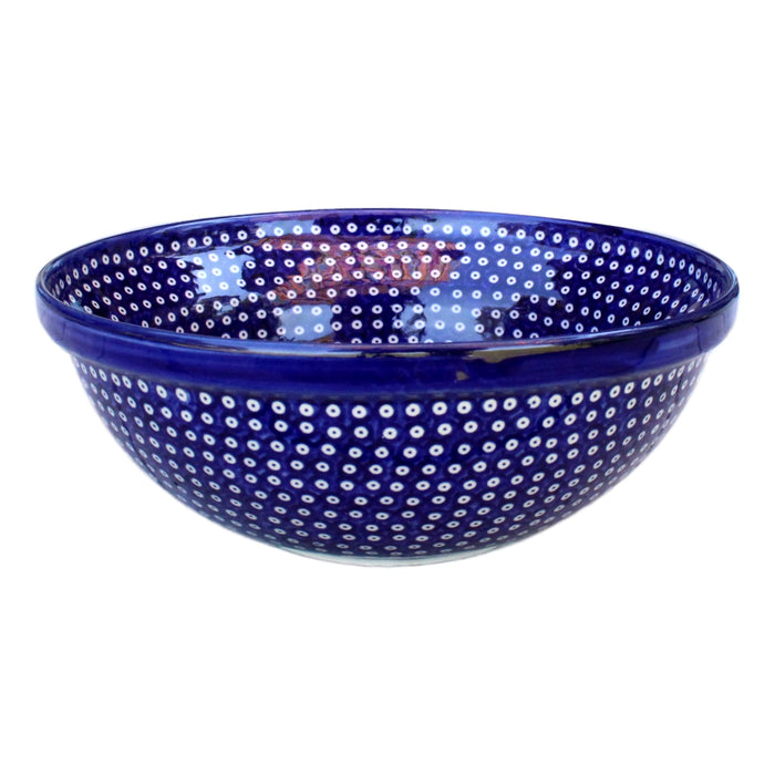 Dotty for Dots Navy - Medium Serving Bowl  Polish Ceramics - PasParTou